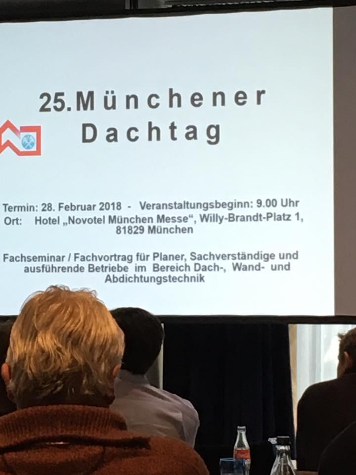 Münchener Dachtag 2018 - Clauss Bedachungen - Dachdecker München